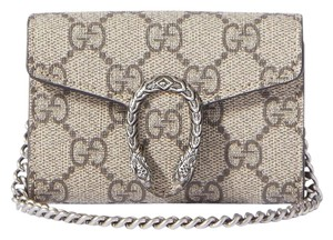 Gucci Dionysus super mini printed coated canvas and leather shoulder bag