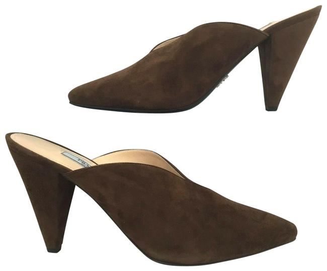 Item - Brown Suede Pointy Toe Mules/Slides Size EU 40 (Approx. US 10) Regular (M, B)