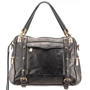 Rebecca Minkoff Cupid Leather Style H205i01ca Satchel in Black