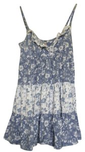 Mantaray short dress blue and white Summer Beach on Tradesy