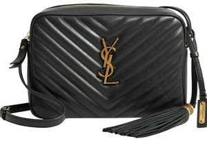 Saint Laurent Ysl Quilted Leather Cross Body Bag