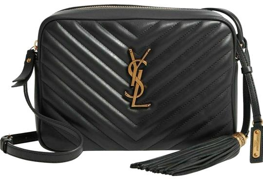 Saint Laurent Ysl Quilted Leather Cross Body Bag Image 0