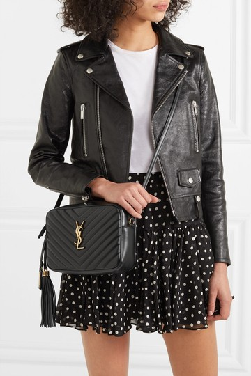 Saint Laurent Ysl Quilted Leather Cross Body Bag Image 1
