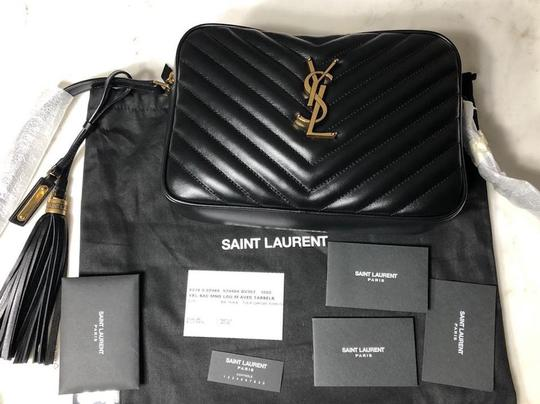 Saint Laurent Ysl Quilted Leather Cross Body Bag Image 6