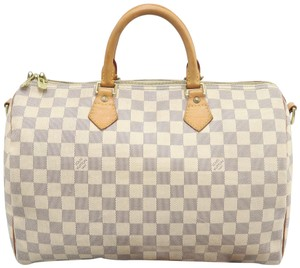 Louis Vuitton Lv Damier Ebene Speedy Bandouliere Shoulder Bag