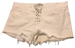 Express Cut Off Shorts white