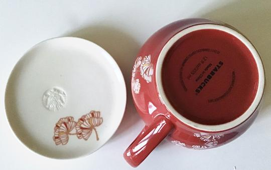 STARBUCKS 2012 Chinese Lunar Year FISH PLAYING IN THE POND Tea Cup w. Lid Image 3