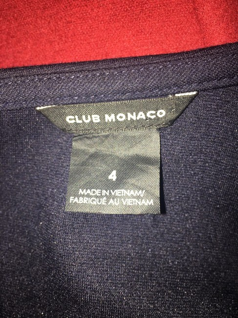 Club Monaco short dress Navy on Tradesy Image 3