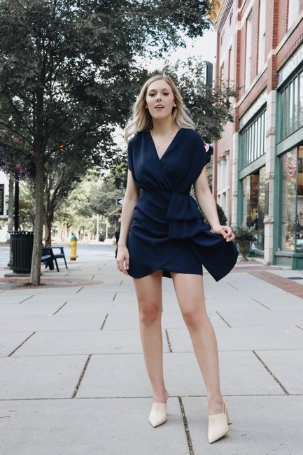 Club Monaco short dress Navy on Tradesy Image 5