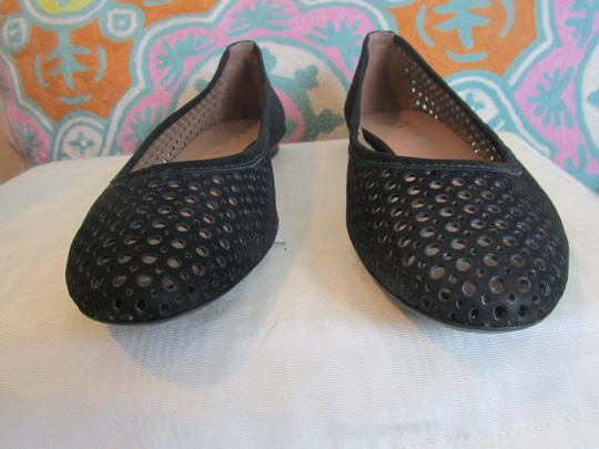 French Sole Nubuck Perforated Ballet Leauge orange Flats Image 1