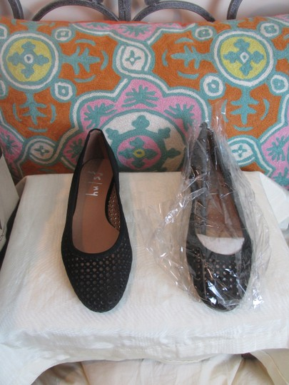 French Sole Nubuck Perforated Ballet Leauge orange Flats Image 10