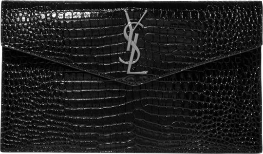 Preload https://img-static.tradesy.com/item/26454726/saint-laurent-monogram-envelope-new-ysl-croc-pouch-black-leather-clutch-0-1-540-540.jpg