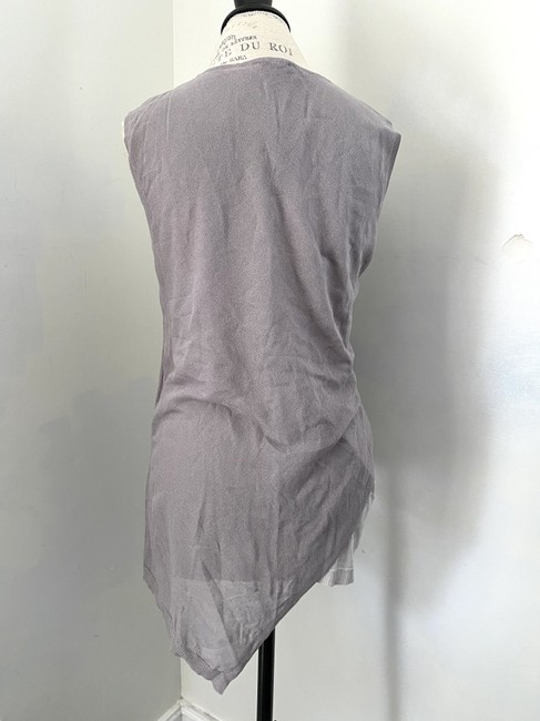 Ronen Chen Asymmetrical New With Tags Top Gray Image 3
