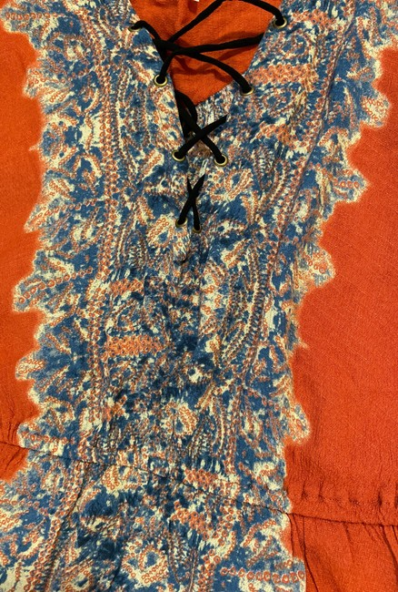 Free People Boho Festival Peasant Flowy Top Persimmon combo Image 2