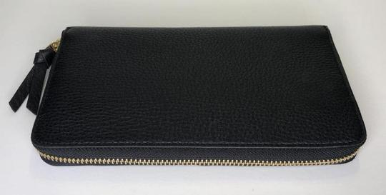 Tory Burch Tory Burch BRITTEN Zip Continental Wallet Pebbled Leather Black Image 7