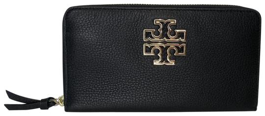 Preload https://img-static.tradesy.com/item/26454888/tory-burch-black-britten-zip-continental-pebbled-leather-wallet-0-1-540-540.jpg