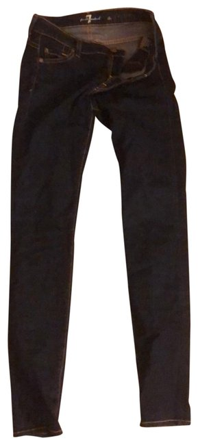 7 For All Mankind Skinny Jeans-Dark Rinse Image 0