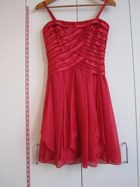BCBGMAXAZRIA Silk Strapless Dress Image 0
