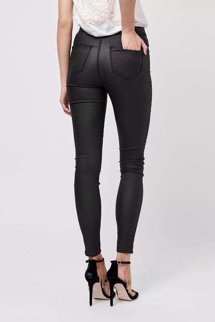 Topshop High Rise Coated Skinny Jeans-Coated Image 1