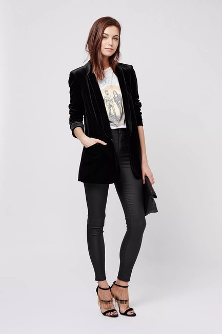 Topshop High Rise Coated Skinny Jeans-Coated Image 2