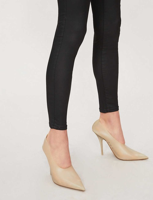 Topshop High Rise Coated Skinny Jeans-Coated Image 4