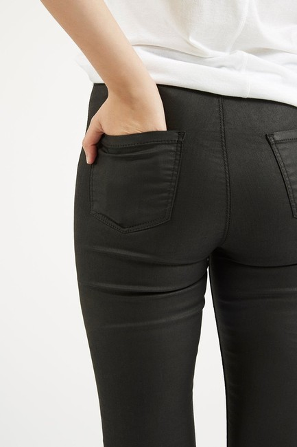 Topshop High Rise Coated Skinny Jeans-Coated Image 5