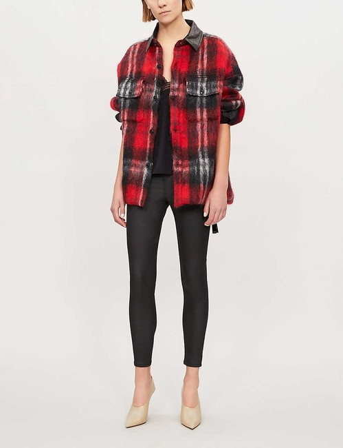 Topshop High Rise Coated Skinny Jeans-Coated Image 7