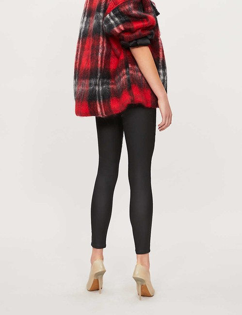 Topshop High Rise Coated Skinny Jeans-Coated Image 8