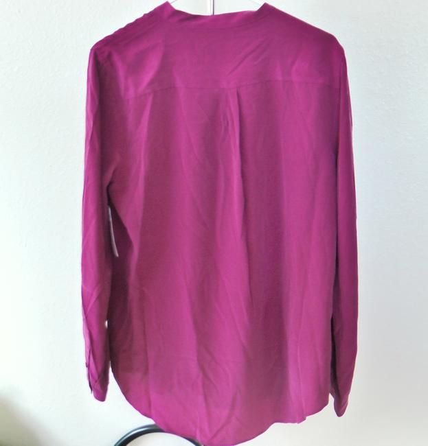 Equipment Silk Hollywood Party Date Night Night Out Top Red Image 3