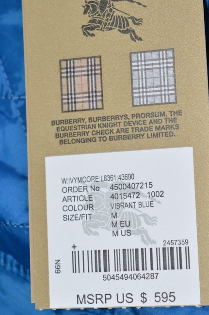 Burberry Brit Nova Check Plaid Blue Jacket Image 6