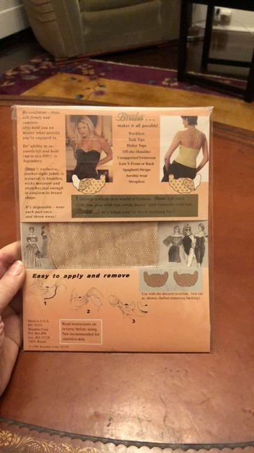 Braza and Fashion Forms Top Adhesive Backless Bra C Cup Image 3