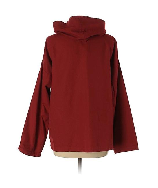 Eileen Fisher Active Hooded Top Cotton Red Jacket Image 1