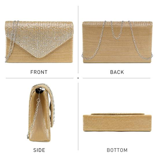 other Treasuredhippie Vintage Classic Gold Clutch Image 1