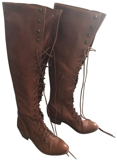 Free People/Jeffrey Campbell Joe Over The Knee Boots - 11 Cognac Boots Image 0