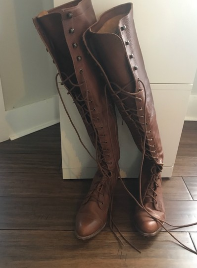 Free People/Jeffrey Campbell Joe Over The Knee Boots - 11 Cognac Boots Image 1