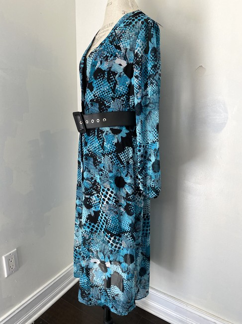 Joseph Ribkoff New With Tags Belted Shirt Printed Tunic Dress Image 2