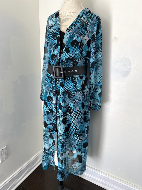 Joseph Ribkoff New With Tags Belted Shirt Printed Tunic Dress Image 3