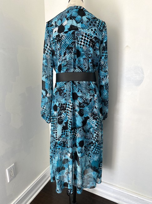 Joseph Ribkoff New With Tags Belted Shirt Printed Tunic Dress Image 4