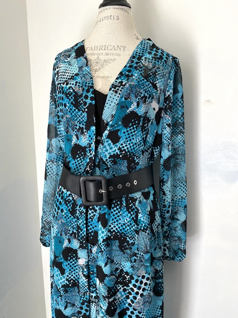 Joseph Ribkoff New With Tags Belted Shirt Printed Tunic Dress Image 5