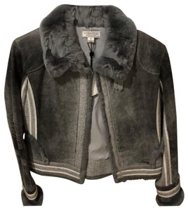 St. John By Marie Gray Leather Jacket