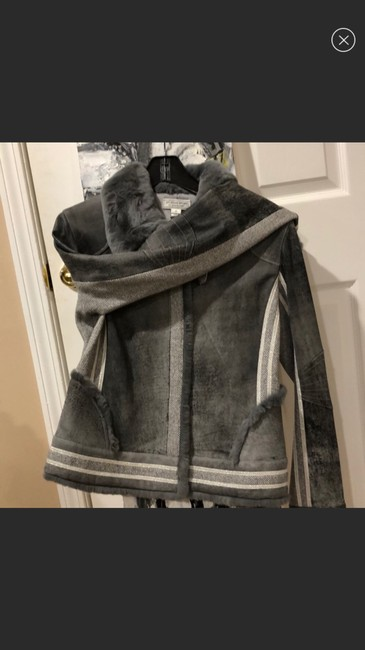 St. John By Marie Gray Leather Jacket Image 3