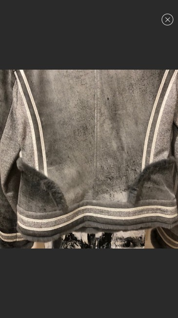 St. John By Marie Gray Leather Jacket Image 5