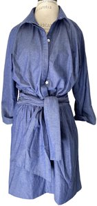 Gretchen Scott Denim Chambray Belted New With Tags Dress