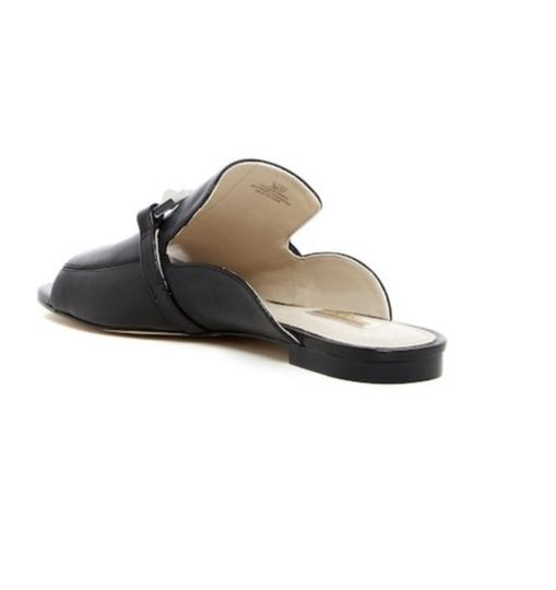 Louise et Cie Silver Hardware Leather Black Flats Image 6