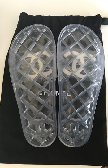 Chanel Clear and White Sandals Image 2