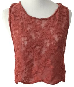 Lucca Couture Red Lace Top