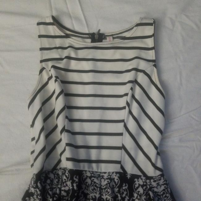 Xhilaration short dress White black stripes/white black print on Tradesy Image 2