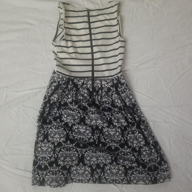 Xhilaration short dress White black stripes/white black print on Tradesy Image 3