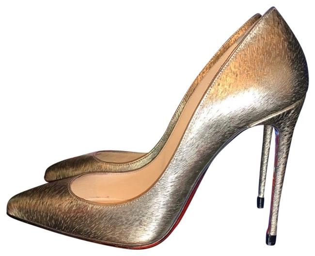 Item - Gold Pigalle Follies 100mm Pumps Size US 5 Narrow (Aa, N)