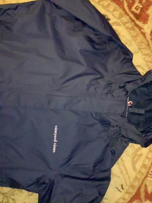 Vineyard Vines navy with pink detail on pocket and zipper Jacket Image 3